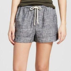 Mossimo Supply Co. Gray Linen Shorts Sz L